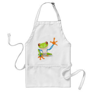 Cute Tree Frog Standard Apron