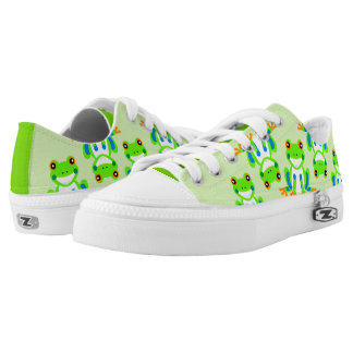 Cute Tree Frogs in the Grass Low Tops