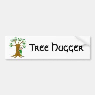 Cute Tree Hugger Design Car Bumper Sticker