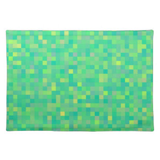 CUTE Trendy Bright Multi-Color Square Pattern Placemat