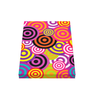 Cute trendy colorful circles pattern abstract canvas prints