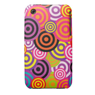 Cute trendy colorful circles pattern abstract iPhone3 case