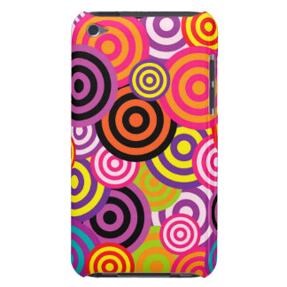 Cute trendy colorful circles pattern abstract barely there iPod cases