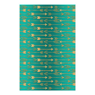 Cute trendy faux gold glitter tribal arrows stationery