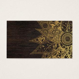 Cute trendy flower henna hand drawn design business card