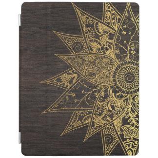 Cute trendy flower henna hand drawn design iPad cover