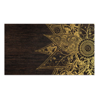Cute trendy flower henna hand drawn design pack of standard business cards