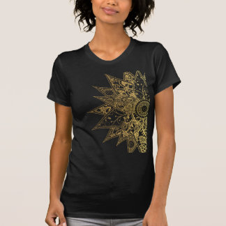 Cute trendy flower henna hand drawn design T-Shirt