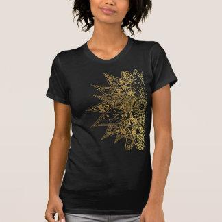 Cute trendy flower henna hand drawn design t-shirts