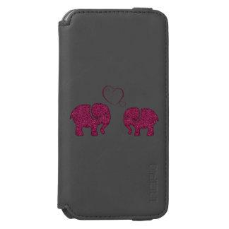 Cute trendy girly elephants in love incipio watson™ iPhone 6 wallet case