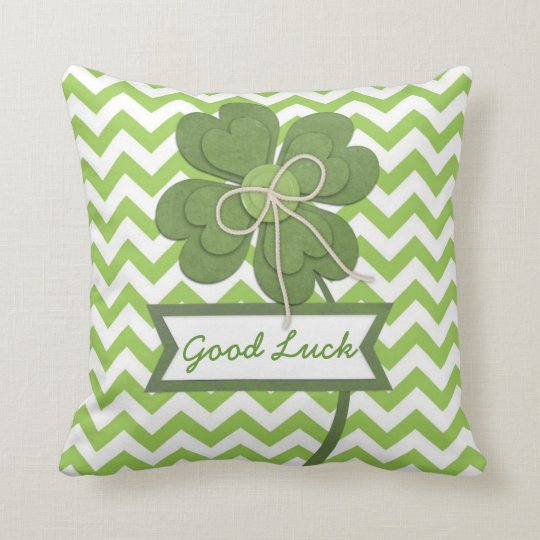 "Cute trendy girly ""Good Luck"" four leaf clover"