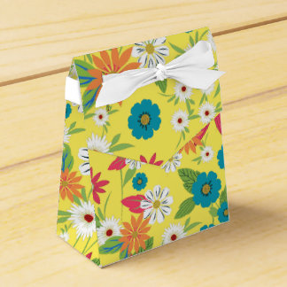 Cute trendy girly soft colours floral pattern favour box