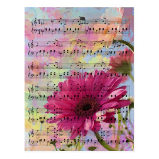 Cute trendy girly watercolours Gerbera flowers Postcard