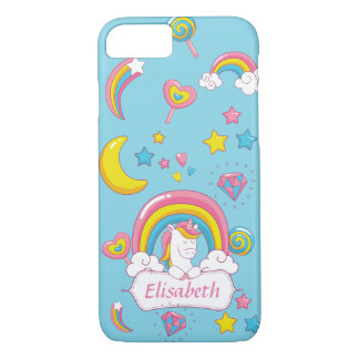 Cute Trendy  Magical Unicorn Custom name iPhone 8/7 Case