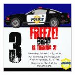 Cute Trendy Police Car Birthday Party Invitation