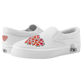 Cute trendy Red Heart Shoes