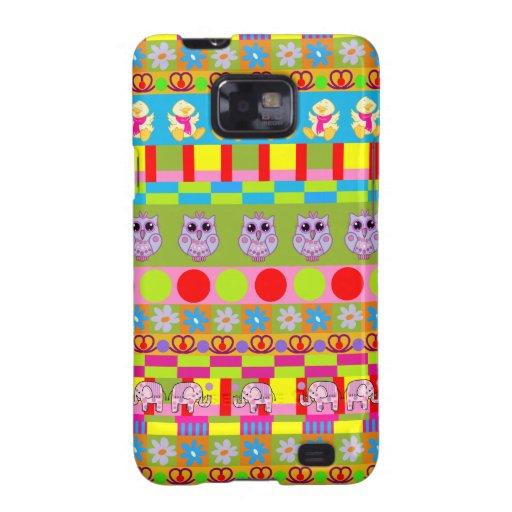 Cute trendy Samsung galaxy case with Owls etc