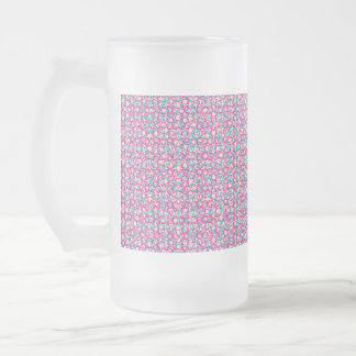 Cute Trendy Scribble Bows Glass Beer Mugs