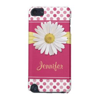 Cute Trendy Shasta Daisy Polka Dot iPod Touch 5G Cases