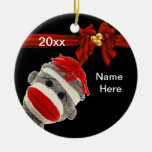 CUTE TRENDY SOCK MONKEY Ornament CUSTOM
