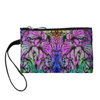 Cute Trendy Watercolor Floral Coin Purse