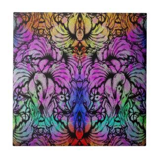Cute Trendy Watercolor Floral Tiles