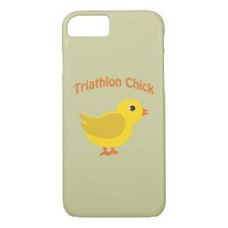 Cute Triathlon Chick iPhone 7 Case