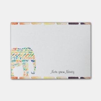 Cute Tribal Design Elephant Post-it Notes