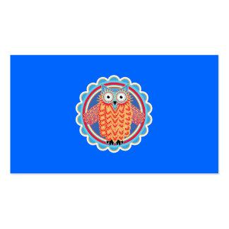 Cute Tribal Owl Business Cards