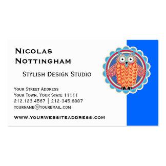 Cute Tribal Owl Business Card