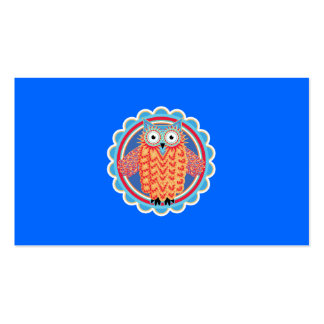Cute Tribal Owl Business Cards