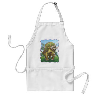 Cute Triceratops Art Gifts & Accessories Adult Apron
