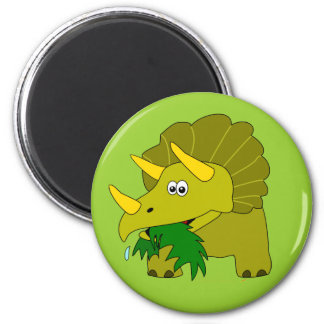 Cute Triceratops Dinosaur Kids Cool Party Favors 6 Cm Round Magnet