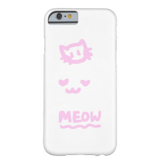 Cute Trio kitten sketch pink Barely There iPhone 6 Case