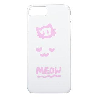 Cute Trio kitten sketch pink iPhone 7 Case