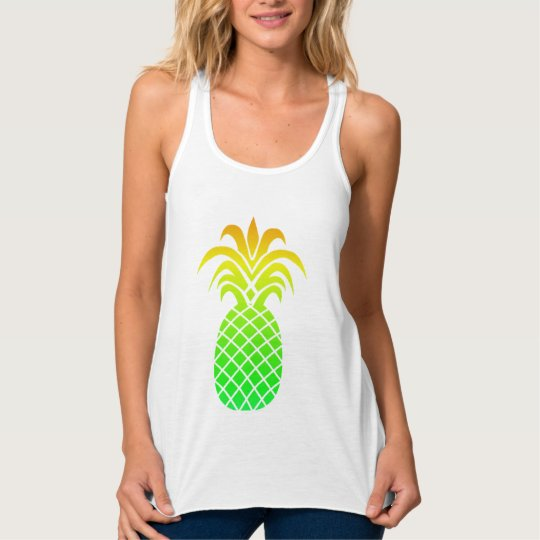 Cute Tropical Colours Pineapple Tank Top