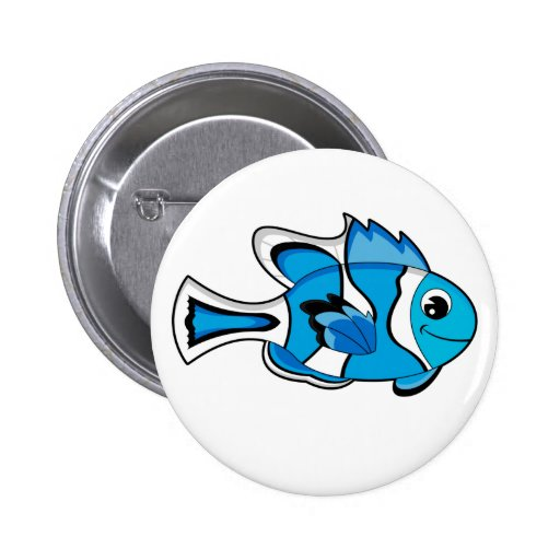 Cute Tropical Fish Button