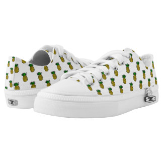 Cute Tropical Summer Fruits Pineapples Pattern Printed Shoes