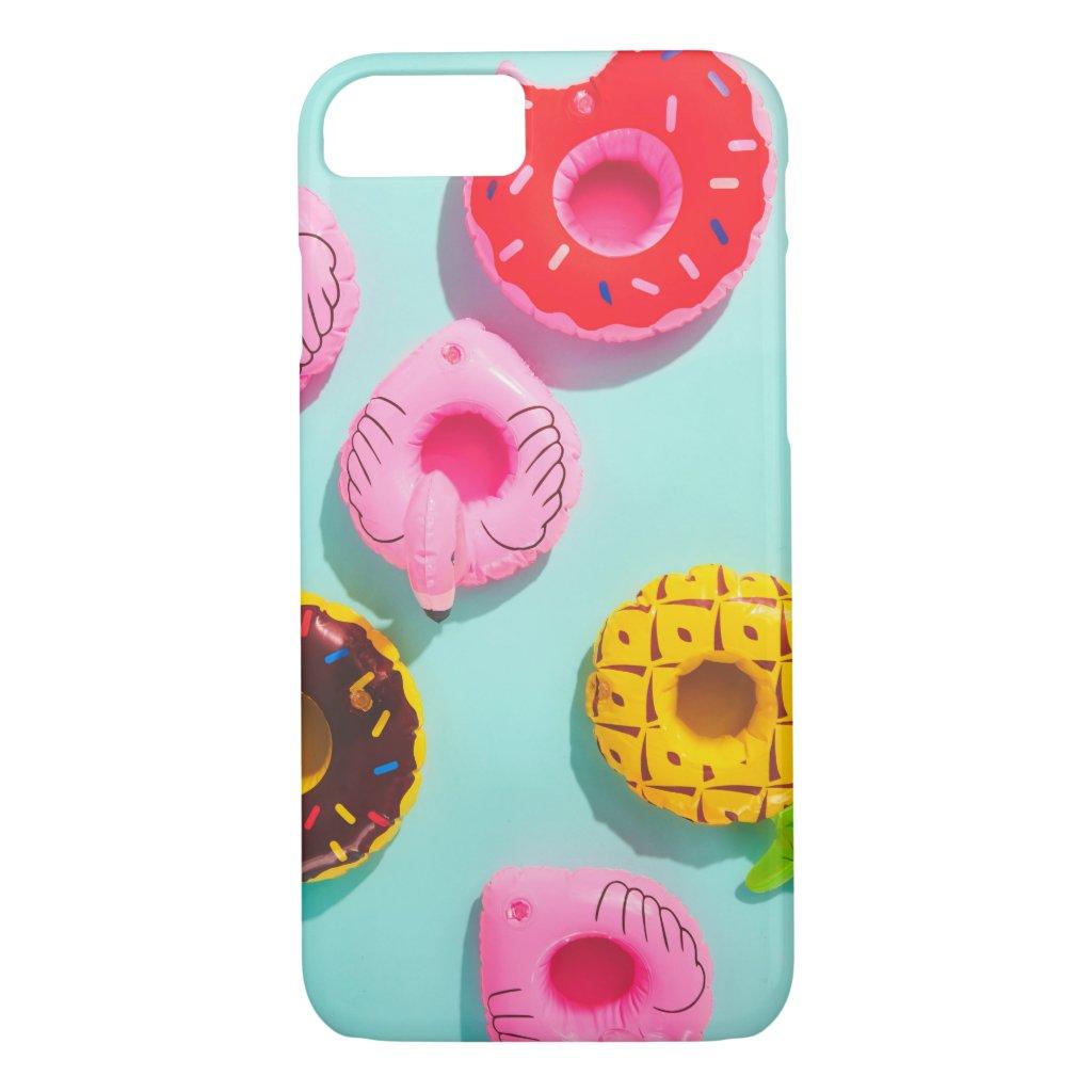 Cute Tropical Summer Fun Colourful Pool Beach Case-Mate iPhone Case
