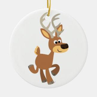 Cute Trotting Cartoon Deer Ornament