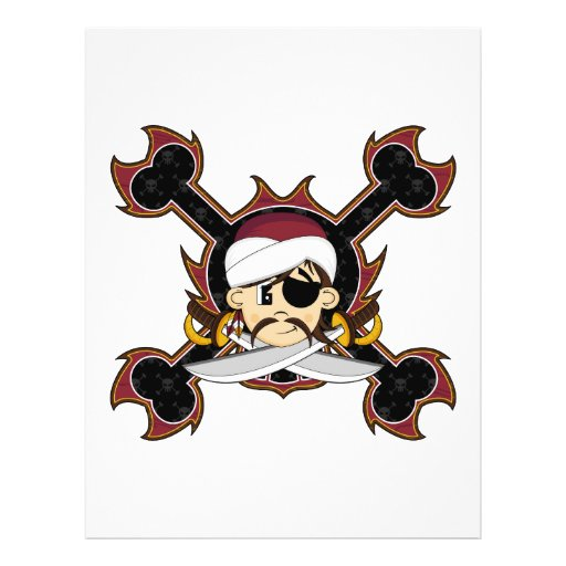 Cute Turban Pirate Flyer
