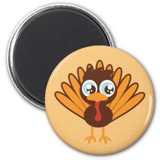 Cute Turkey 6 Cm Round Magnet