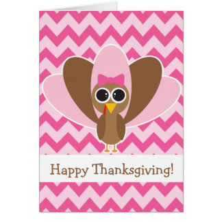 Cute Turkey Greeting Card