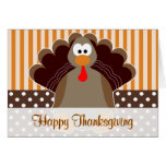 Cute Turkey Happy Thanksgiving Card