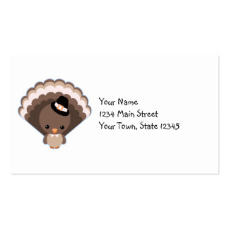 Cute Turkey Thanksgiving Day Pack Of Standard Business Cards