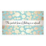Cute Turquoise Blue and Gold Beauty Referral Card Pack Of Standard Business Cards
