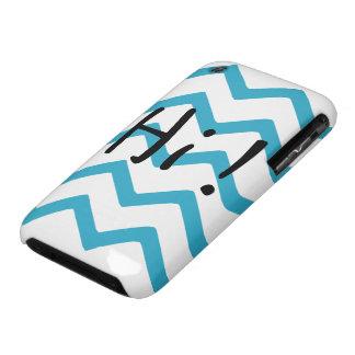Cute Turquoise Chevron Hi! iPhone 3 Case