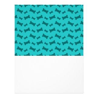 Cute turquoise dog bones pattern 21.5 cm x 28 cm flyer