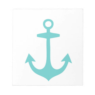 Cute Turquoise Nautical Design Notepad
