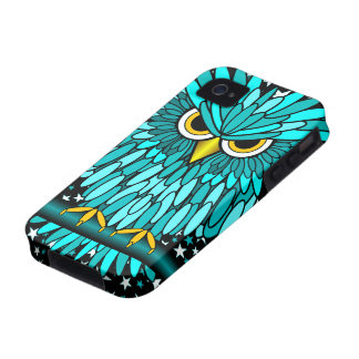 cute turquoise owl vibe iPhone 4 cases